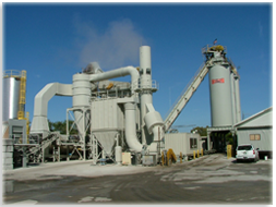 Houston Asphait's high-capacity hot-mix asphalt production plant in Bradenton Florida
